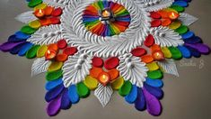 Discover recipes, home ideas, style inspiration and other ideas to try. Easy Rangoli Designs Diwali, Simple Rangoli Designs Images, Rangoli Designs Latest, Rangoli Designs Flower, Free Hand Rangoli Design, Rangoli Border Designs, Small Rangoli Design, Rangoli Ideas, Rangoli Designs With Dots