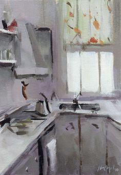 ◇ Artful Interiors ◇ paintings of beautiful rooms - David Lloyd