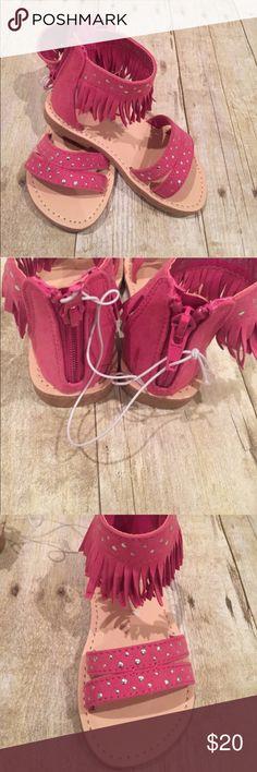 RAMPAGE pink fringe toddler size 8 NWT sandals RAMPAGE NWT hot pink fringe toddler size 8 sandals Rampage Shoes Sandals & Flip Flops