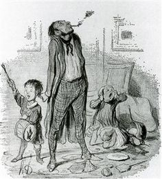 Poet Composing a Classical Eclogue on the Quiet Country Life - Honore Daumier