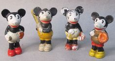Bisque Mickey Mouse Baseball Players Set (1930's)