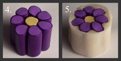 This little tutorial is for those new to the medium Polymer Clay and should explain a little how those little flowers end up on  beads, pen...