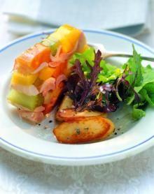 Sülze vom bayerischen Gockel mit Bratkartoffeln