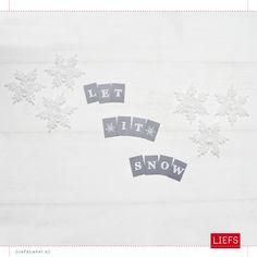 Let It Snow minislinger ♡ www.LiefsLabel.nl