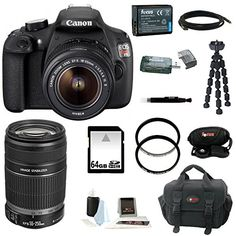 Canon EOS Rebel T5 DSLR Camera with 18-55mm and 55-250mm Lens Bundle and 64GB Deluxe Accessory Kit  http://www.lookatcamera.com/canon-eos-rebel-t5-dslr-camera-with-18-55mm-and-55-250mm-lens-bundle-and-64gb-deluxe-accessory-kit/