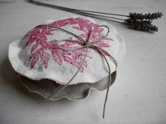 Lavender and Buckwheat Eco Pillow Sachets with Garnet Wreath (pair)