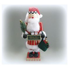 Santa Decor Christmas Decoration Santa Decoration Santa Claus Father... (€26) ❤ liked on Polyvore featuring home, home decor, holiday decorations, christmas figurines, father christmas figure, wood figure, santa figure and christmas nutcrackers