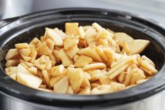 Apples, brown sugar, and cinnamon make for the perfect crock pot snack!
