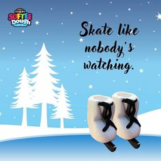 Ice skates created from Softee Dough. Create anything you want with Cra-Z-Art's Softee Dough.