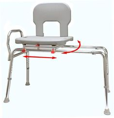 Eagle Health Bariatric Swivel Sliding Transfer Bench 55662 Features: Swivel seat turns and locks every allowing easy entry to and exit from the bench Walk In Bathtub, Bathtub Shower, Bathroom Chair, Shower Head Holder, Buy Chair, Easy Entry, Chair Bench, Foot Rest, Furniture