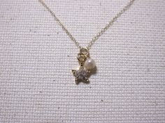 Starfish & Pearl Charm Necklace by MariahBennett on Etsy, $28.00
