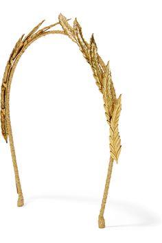 Jennifer Behr | Gold-plated headband | NET-A-PORTER.COM