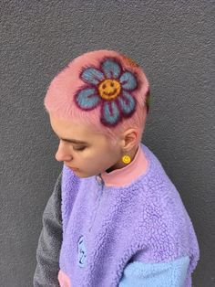 Aesthetic Nails Pastel Short The Effective Pictures We Offer You About shaved hair designs geome Dye My Hair, New Hair, Buzzed Hair, Shaved Hair Designs, Aesthetic Hair, Aesthetic Pastel, Shave My Head, Rides Front, Crazy Hair