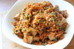 crispy ginger tofu