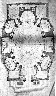 Borromini, first scheme for S. Carlo alle Quattro Fontane