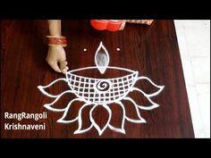 Rangoli Side Designs, Rangoli Designs Latest, Full Hand Mehndi Designs, Rangoli Borders, Rangoli Designs Diwali, Rangoli Designs With Dots, Rangoli With Dots, Lotus Rangoli, Diya Rangoli