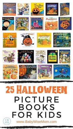 25 Halloween picture books for kids. 25 Halloween picture books perfect for your child to read this October! Find classic Halloween books and cute Halloween books that are more modern. #halloweenbooks #halloweenpicturebooks #halloween