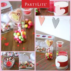 Getting creative with PartyLite for Valentine's Day!