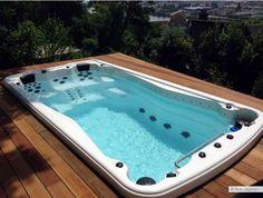 Swiming Pool, Cool Swimming Pools, Swimming Pool Designs, Cool Pools, Jacuzzi Outdoor, Outdoor Spa, Spas, Blue Lagoon Spa, Mini Piscina