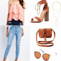 Lace up heels - 42 budget friendly outfits from Charlotte Russe that you need in your closet right now. Find a fun affordable going out outfit to your favorite street style outfit. 2017 summer fashion. Stella and dot jewelry #summerstyle   http://www.vanity-claire.com/my-outfits/42-outfits-that-prove-charlotte-russe-isnt-just-for-teenagers