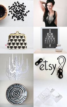 black and ice by Stefania on Etsy--Pinned with TreasuryPin.com www.sidkassidy.com