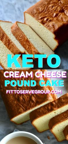 Keto Cream Cheese Pound Cake -Stop missing cake while doing keto with this easy, delicious recipe for low carb pound cake. This keto pound cake is one you can customise easily and will make often. Low Carb Desserts, Low Carb Recipes, Dessert Recipes, Easy Recipes, Low Calorie Cake, Breakfast Recipes, Vegetarian Recipes, Keto Postres, Cream Cheese Pound Cake