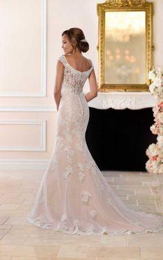 6517 Modern Lace Mermaid Wedding Dress by Stella York