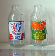 milk bottles by kaylovesvintage, via Flickr