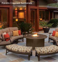 Home Design and Interior Design Gallery of Tropitone Home Ravello Crescent Sectionals