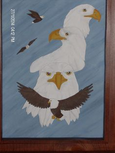 Proud Eagles Wall Hangings, Eagles, 3 D, Frame, Painting, Home Decor, Homemade Home Decor, Eagle, Painting Art