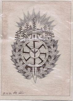 Славянские и скандинавские татуировки | эскизы | ВКонтакте