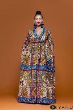 African Dashiki Dress, Ankara Maxi Dress, Latest African Fashion Dresses, African Print Dresses, African Dresses For Women, African Wear, African Attire, African Women, African Style