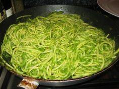 Tallerines Verdes, a Peruvian dish. Use cream cheese to make it tasty.