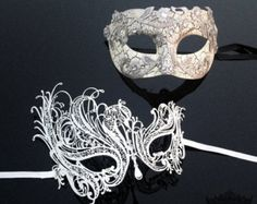 New His & Hers Phantom Masquerade Masks Black Themed by 4everstore