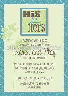 Couples shower invitation