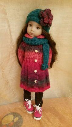 "OOAK woolen outfit for Dianna Effner Little Darling 13"""