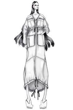 Fashion design illustration - dress sketch; fashion drawing // Issa Grimm