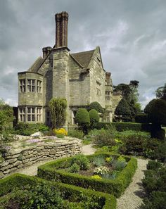 Country garden - A view of Benthall Hall from the Pixy Garden