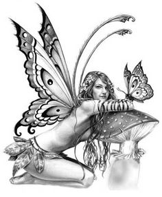 Very Beautifully Done. Graphite Pencil Drawing Tips @ Selina Fenech – Fairy Art and Fantasy Art Gallery Fairy Drawings, Pencil Drawings, Pencil Art, Fantasy Kunst, Fantasy Art, Tattoo Hada, Fairy Wing Tattoos, Butterfly Tattoos, Elfen Fantasy