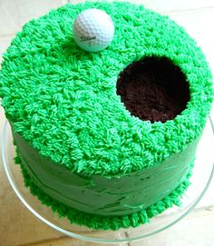 Make a hole in one with this vibrant golf cake. Dad won't be able to resist!