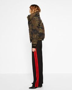 ZARA - WOMAN - SHORT CAMOUFLAGE PRINT QUILTED COAT