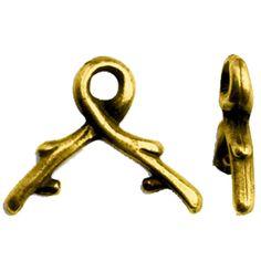 TIERRACAST® Antique Gold 6mm Vine Briolette Bail