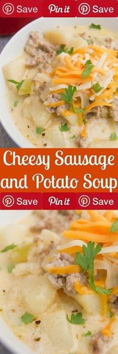 Cheesy Sausage Potato Soup Gluten free Meat 1 lb Italian ground sausage Produce 1 diced cup Celery diced cup Onion 4 peeled and diced cups Russet potatoes Canned Goods 4 cups Chicken broth Oils & Vinegars tsp Olive oil Dairy 1 cup Cheddar cheese 1 Heavy cream
