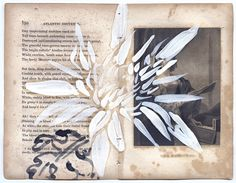 Robert Kushner, Scriptorium: Devout Exercises of the Heart, 2010. From a set of drawings on antique book pages, sizes variable.  Courtesy of DC Moore Gallery