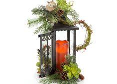 Woodland Christmas Candle Lantern