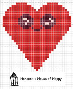 Like and download this cross stitch chart of a little kawaii heart and other cross stitch chart over at my facebook page https://www.facebook.com/HancocksHouseOfHappy