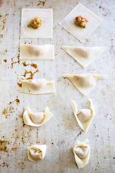 Making Wonton Soup at home really isn't as hard as you might think; Learn how with this great tutorial and pictures! Dumpling Filling, Dumpling Recipe, Dumplings, Easy Japanese Recipes, Asian Recipes, How To Fold Wontons, Italian Appetizers, Wonton Wrappers, Drinks Alcohol Recipes