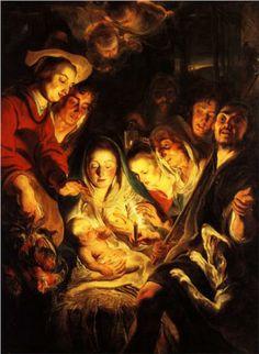 Adoration of the Shepherds - Jacob Jordaens