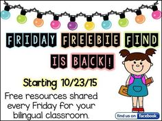 is back this week! Sharing free TPT bilingual resources on Kinder Bilingue's Facebook page. #iteachbilinguals #tpt #teachers #teachertips #kinderbilingue Reposted Via @kinderbilingue101