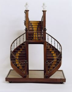 Staircase model, France, early 19th century, Gift of Eugene V. and Clare E. Thaw, 2007-45-12
